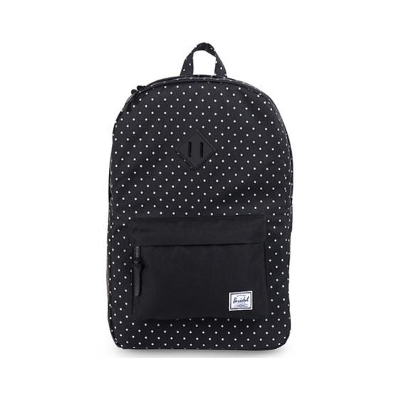 561c36cadd8a Herschel Supply Company Handbags - Herschel Supply Co Black Polka Dot  Backpack
